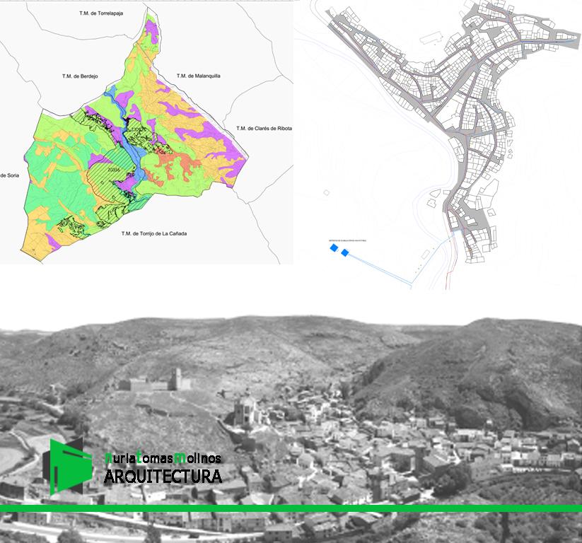 Planos de ordenacion urbana normativas urbanisticas y delimitacion de suelo urbano de Bijuesca