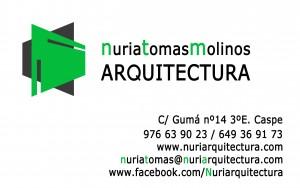 Arquitecto en Caspe Nuria Tomas Molinos