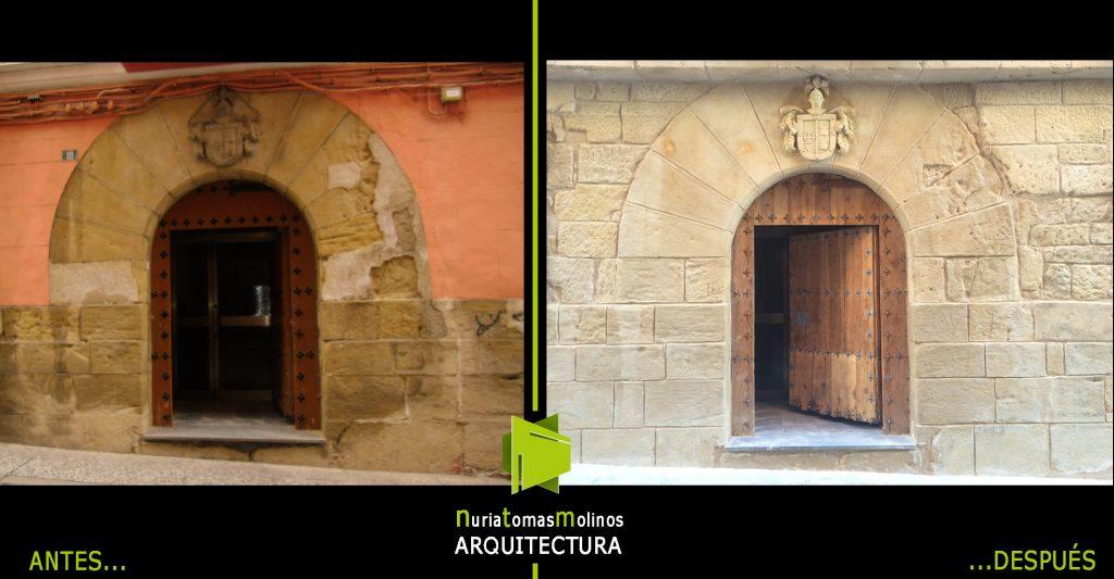REHABILITACION DE FACHADA bic puerta escudo